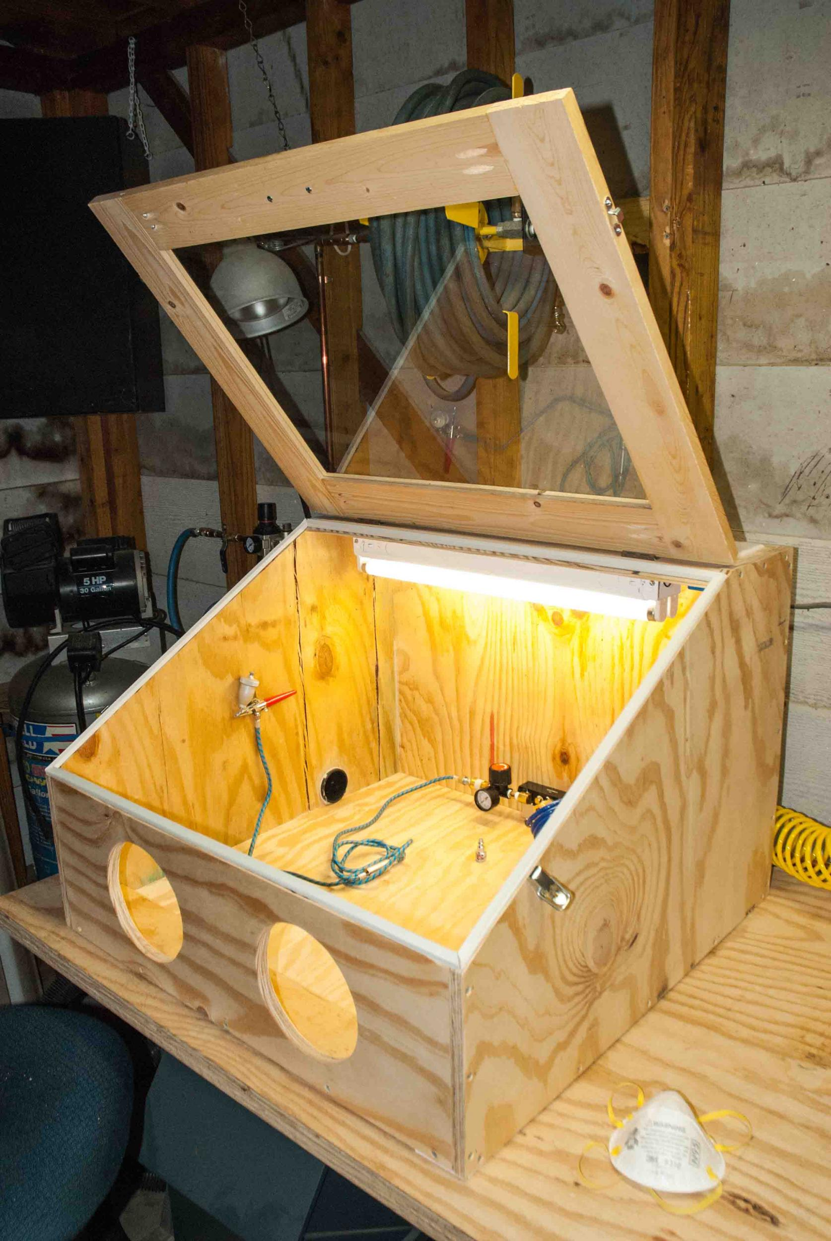 "DIY ""Blasting Cabinet"" - Fossil Preparation - The Fossil Forum"