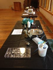 Fossil Prep Demo Table